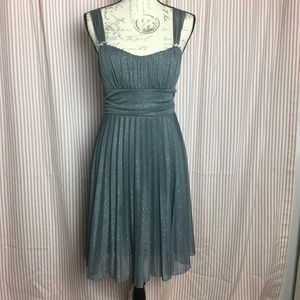 Speechless Silver Grey Sparkly Dress Size L